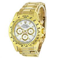 Классические мужские часы Rolex Cosmograph Daytona Gold/White (механические)