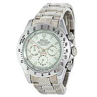 Классические мужские часы Rolex Cosmograph Daytona Silver/White (механические)