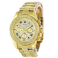 Классические женские часы Rolex Cosmograph Daytona Women Rome Crystal Gold (механические)