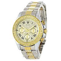 Классические женские часы Rolex Cosmograph Daytona Women Crystal Silver/Gold (механические)
