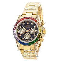 Элитные мужские часы Rolex Cosmograph Daytona Rainbow Yellow Gold (механические)