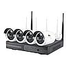Комплект Wi-Fi IP видеонаблюдения с 4-мя камерами Outdoor Wireless Kit 4MP 4xIP