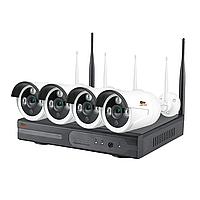 Комплект Wi-Fi IP видеонаблюдения с 4-мя камерами Outdoor Wireless Kit 1MP 4xIP, фото 1