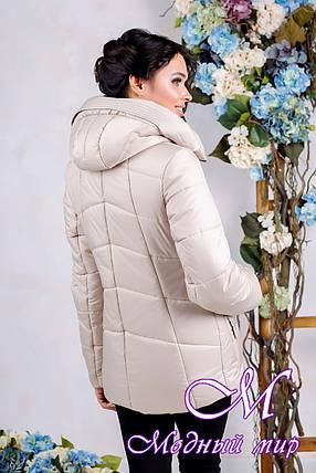 Женская бежевая осенняя куртка (р. 44-56) арт. 1011 Тон 24, фото 2