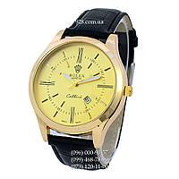 Классические мужские часы Rolex Cellini Date Black-Gold (кварцевые)