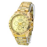 Классические мужские часы Rolex Cosmograph Daytona Date All Gold (кварцевые)