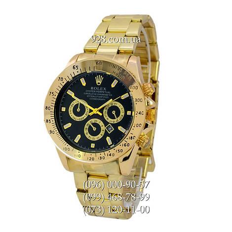 Классические мужские часы Rolex Cosmograph Daytona Date Gold-Black ( кварцевые) ac64510ae58