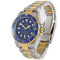 Элитные мужские часы Rolex Submariner Date Silver-Yellow Gold/Blue/Blue (механические)