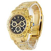 Элитные мужские часы Rolex Daytona AAA Mechanic Gold-Black (механические)