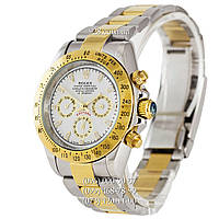 Классические мужские часы Rolex Daytona AA+ Mechanic Silver-Gold-White (механические)