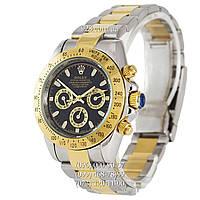 Классические мужские часы Rolex Daytona AA+ Mechanic Silver-Gold-Black (механические)