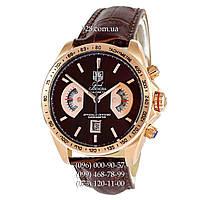 Элитные мужские часы Tag Heuer Grand Carrera Calibre17 RS2 Quartz Brown/Gold (кварцевые)