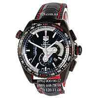 Элитные мужские часы TAG Heuer Grand Carrera Calibre 36 RS Caliper All Black/Silver (кварцевые)