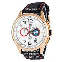 Классические мужские часы Tag Heuer Carrera BMW Automatic Black/Gold/White-Red (кварцевые)