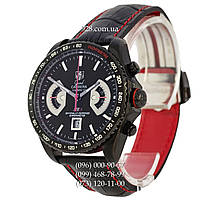 Элитные мужские часы Tag Heuer Grand Carrera Calibre17 RS2 Quartz All Black-Red (кварцевые)