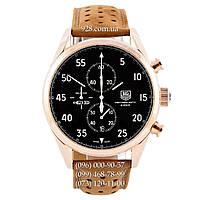Элитные мужские часы TAG Heuer Carrera 1887 SpaceX Chronograph Gold/Black-White (кварцевые)