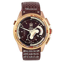 Классические мужские часы TAG Heuer Grand Carrera Calibre 36 Quartz Brown/Gold (кварцевые)