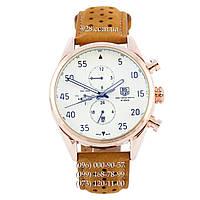 Классические мужские часы TAG Heuer Carrera 1887 SpaceX Automatic Classic Gold/White (механические)