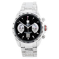 Элитные мужские часы TAG Heuer Grand Carrera Calibre 17 Quartz Steel Silver/Black (кварцевые)