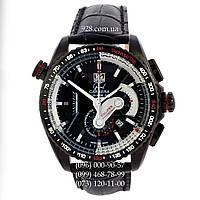 Элитные мужские часы TAG Heuer Grand Carrera Calibre 36 RS Caliper Black/Silver (кварцевые)