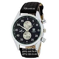 Классические мужские часы Tag Heuer Carrera Calibre 17 Black-Silver-Black Quartz (кварцевые)