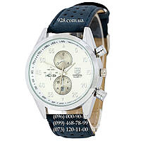 Классические мужские часы Tag Heuer Carrera Calibre 17 Blue-Silver-White Quartz (кварцевые)