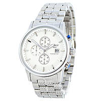 Классические мужские часы Tissot Powermatic 80 Chronograph Steel Silver/White (кварцевые)