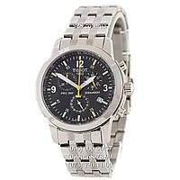 Классические мужские часы Tissot T-Sport PRC 200 Chronograph Silver-Black-Yellow (кварцевые)