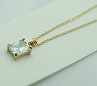 Кулон маленький кристалл с цепочкой. Ювелирная бижутерия. 310