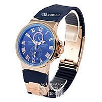Классические мужские часы Ulysse Nardin Marine Chronometer AA Month Blue/Gold/Blue (механические)