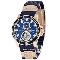 Классические мужские часы Ulysse Nardin Maxi Marine Diver Tourbillon Blue/Gold/Blue (механические)