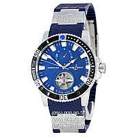 Классические мужские часы Ulysse Nardin Maxi Marine Diver Tourbillon Blue/Silver/Blue (механические)