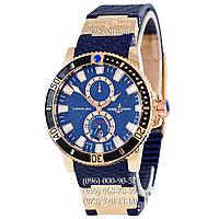 Классические мужские часы Ulysse Nardin Maxi Marine Diver AA Blue/Gold/Blue (механические)
