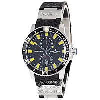 Классические мужские часы Ulysse Nardin Maxi Marine Diver AA Black/Silver/Black-Yellow (механические)