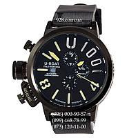 Классические мужские часы U-Boat Italo Fontana U-1001 All Black-Yellow (механические)