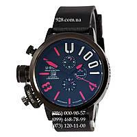 Классические мужские часы U-Boat Italo Fontana U-1001 All Black-Red (механические)