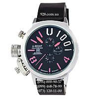Классические мужские часы U-Boat Italo Fontana U-1001 Black/Silver/Pink (механические)