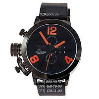 Классические мужские часы U-Boat Italo Fontana Classico Tungsteno All Black/Orange (механические)