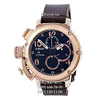 Элитные мужские часы U-Boat Italo Fontana Chimera Chronograph Brown/Pink-Gold/Blue (кварцевые)