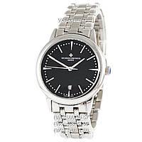 Элитные мужские часы Vacheron Constantin Patrimony Contemporaine Date Silver/White (механические)