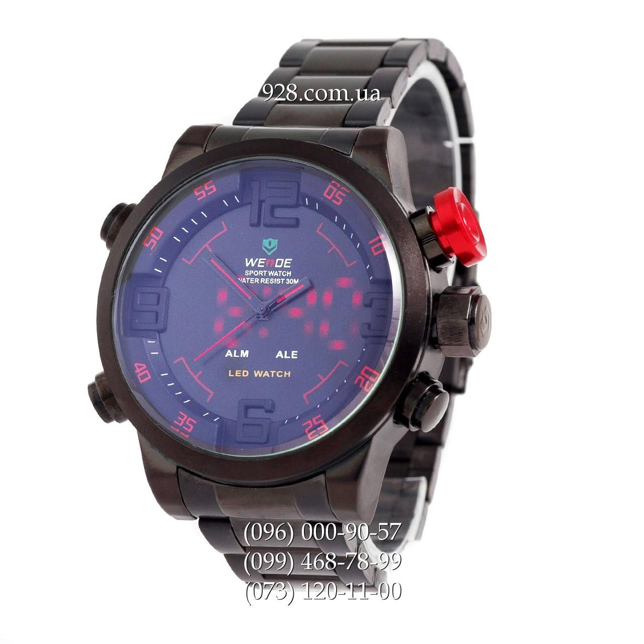 Классические мужские часы Weide Sport Black Red (кварцевые) - Интернет  Магазин