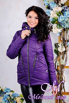 Женская демисезонная куртка большого размера (р. 44-56) арт. 1011 Тон 33, фото 2