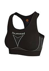 Топ женский спортивный черный бесшовный Hummel термобелье