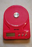 Весы кухонные SCA-301 до 5кг + батарейки