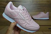 Reebok кроссовки женские розовые кожаные