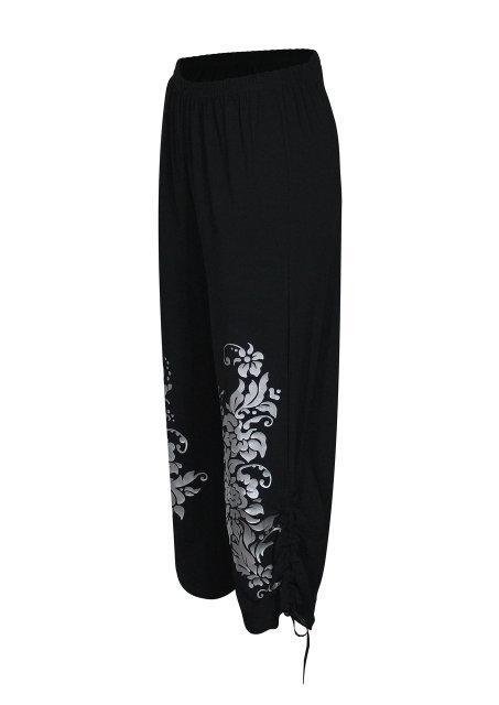 Размер 50- брюки-капри женские Весна- на затяжках по бокам