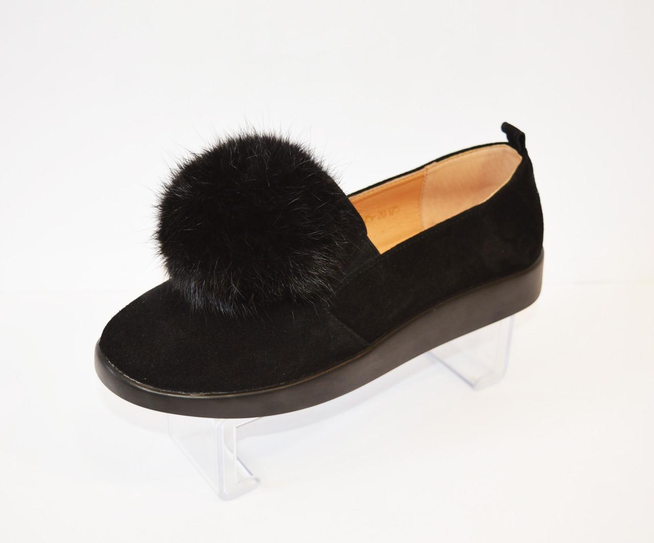 Туфли женские замшевые Kento