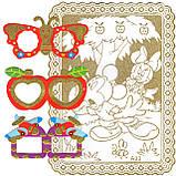 """Раскраски В НАБОРЕ A-5, """"ЗОЛОТЫЕ"""", 1 картонная-раскраска, фон-золотой глиттер + МАСКА-ОЧКИ + 6фломастеров, фото 4"""