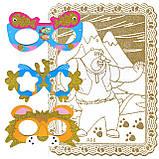 """Раскраски В НАБОРЕ A-5, """"ЗОЛОТЫЕ"""", 1 картонная-раскраска, фон-золотой глиттер + МАСКА-ОЧКИ + 6фломастеров, фото 5"""