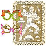"""Раскраски В НАБОРЕ A-5, """"ЗОЛОТЫЕ"""", 1 картонная-раскраска, фон-золотой глиттер + МАСКА-ОЧКИ + 6фломастеров, фото 6"""